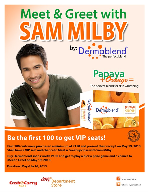 Meet greet with sam milby by dermablend dishysammy meet greet flyers fb m4hsunfo